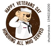 Teddy Bear Salutes Veterans....