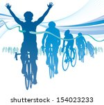 abstract cyclist winning the... | Shutterstock .eps vector #154023233