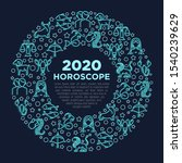 horoscope concept in circle... | Shutterstock .eps vector #1540239629
