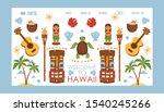 hawaii travel website  vector... | Shutterstock .eps vector #1540245266