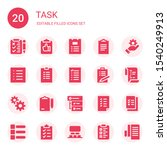 task icon set. collection of 20 ...