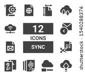 sync icon set. collection of 12 ...   Shutterstock .eps vector #1540288376