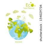 illustration environmentally... | Shutterstock . vector #154029734