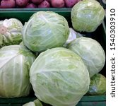 Small photo of Macro photo vegetable Cabbage. Stock photo green Cabbage
