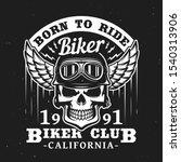 biker club t shirt label  skull ... | Shutterstock .eps vector #1540313906