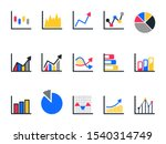 chart and graph icon set pie...