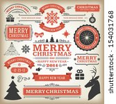 christmas decoration vector... | Shutterstock .eps vector #154031768