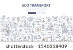 concept of ecology friendly... | Shutterstock .eps vector #1540318409