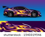car wrap design with stripe... | Shutterstock .eps vector #1540319546