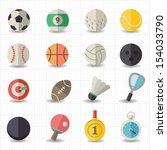 sport icons | Shutterstock .eps vector #154033790