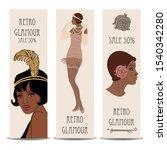 Retro Fashion  Glamour Girl Of...