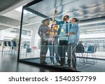 diverse group of businesspeople ... | Shutterstock . vector #1540357799