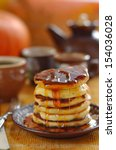 A Stack Of Pumpkin Pancakes ...
