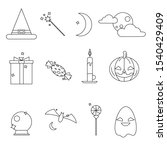 halloween's icons isolated on... | Shutterstock .eps vector #1540429409