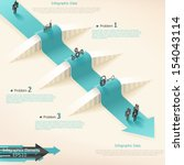 modern infographics options... | Shutterstock .eps vector #154043114