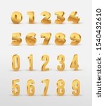 set of gold 3d numbers. design... | Shutterstock .eps vector #1540432610