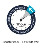 clock switch to winter time ...   Shutterstock . vector #1540435490