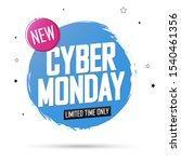 cyber monday sale  banner...   Shutterstock .eps vector #1540461356