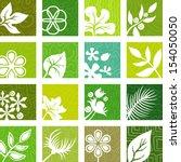 textured floral backgrounds | Shutterstock .eps vector #154050050