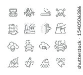 pollution related icons  thin... | Shutterstock .eps vector #1540506386