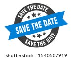save the date tag. save the... | Shutterstock .eps vector #1540507919