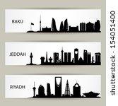 skylines banners   vector... | Shutterstock .eps vector #154051400