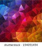 geometry background  vector... | Shutterstock .eps vector #154051454