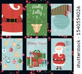 merry christmas greeting card ... | Shutterstock .eps vector #1540554026