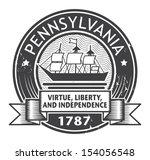 Grunge stamp or label with name of Pennsylvania, vector illustration
