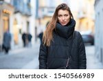 young caucasian woman dressed... | Shutterstock . vector #1540566989