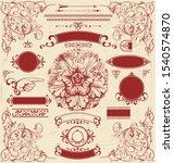 graphic design victorian... | Shutterstock .eps vector #1540574870