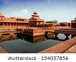 fatehpur sikri mirrored in a... | Shutterstock . vector #154057856