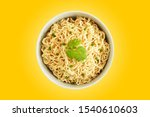 Top View Instant Noodles In Th...