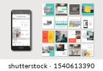 social media pack. set of... | Shutterstock .eps vector #1540613390