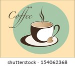 coffee cup emblem | Shutterstock .eps vector #154062368