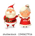 santa claus with flowers for... | Shutterstock .eps vector #1540627916