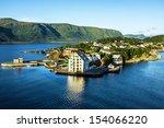 alesund   sea view on island in ... | Shutterstock . vector #154066220