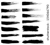 grunge brush stroke. vector set ... | Shutterstock .eps vector #154066790