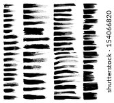 grunge brush stroke. vector set ... | Shutterstock .eps vector #154066820