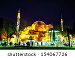 istanbul   april 5  hagia... | Shutterstock . vector #154067726