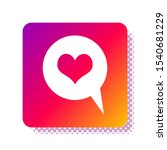 white heart in speech bubble... | Shutterstock .eps vector #1540681229