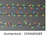 christmas lights string vector. ... | Shutterstock .eps vector #1540683689