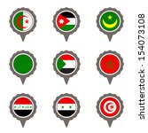 set of map flag icon  vector  | Shutterstock .eps vector #154073108