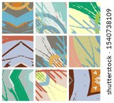 abstract collage asymmetric... | Shutterstock .eps vector #1540738109