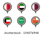 set of map flag icon  vector  | Shutterstock .eps vector #154076948