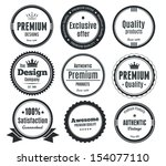 nine scalable vintage badges | Shutterstock .eps vector #154077110