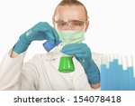checking test tubes | Shutterstock . vector #154078418