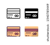payment card icon. with outline ...