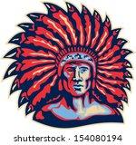 illustration of a native... | Shutterstock .eps vector #154080194
