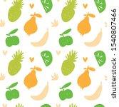 vegan vector seamless pattern.... | Shutterstock .eps vector #1540807466